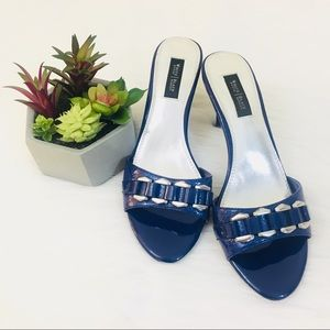 White House Black Market Blue Open Toe Sandals